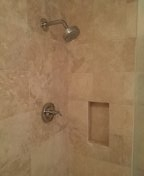 Replace customer own shower valve.