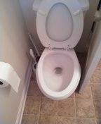 Tustin, CA - Auger toilet