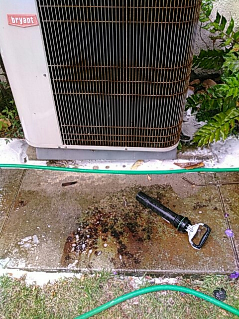 Rolling Hills Estates, CA - Cleaning condenser coil and evaporator coil condensate flushout