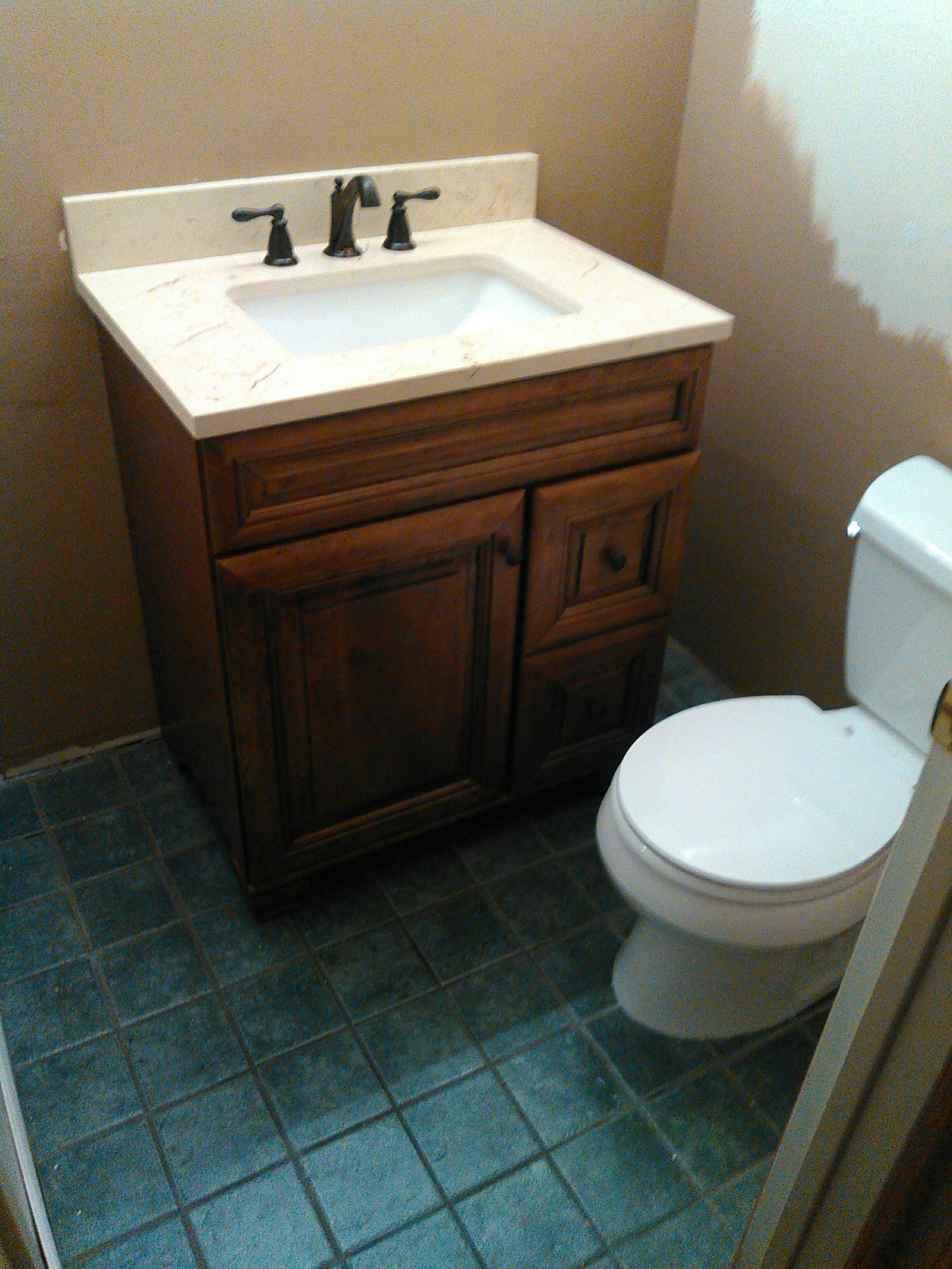 Chatsworth, CA - Install owners toilet and Pullman cabinet with sink/faucet