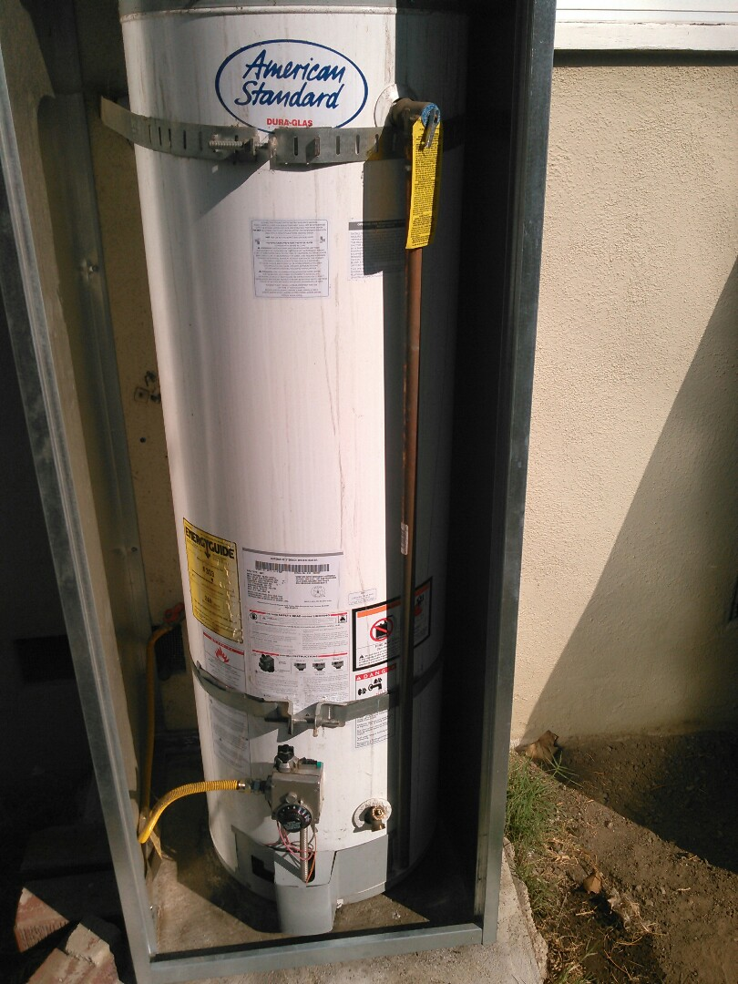 Sunland, CA - Leaking water heater.