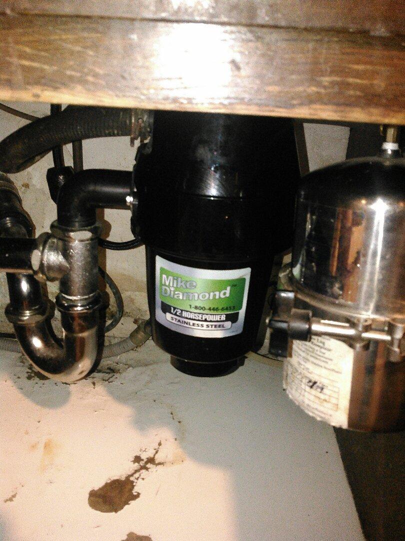 San Fernando, CA -  Installed a new 1/2 horsepower gabage disposal