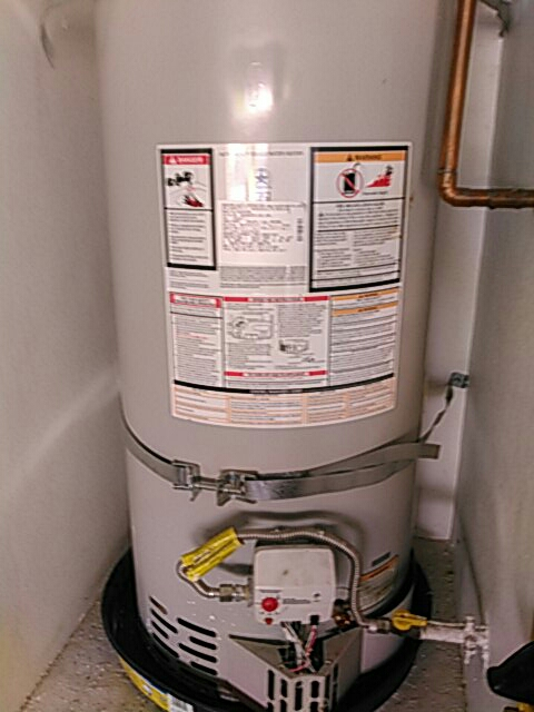 Rowland Heights, CA - Drained water heater