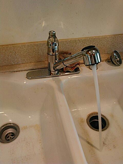 Stanton, CA - Installed  new kitchen sink faucet