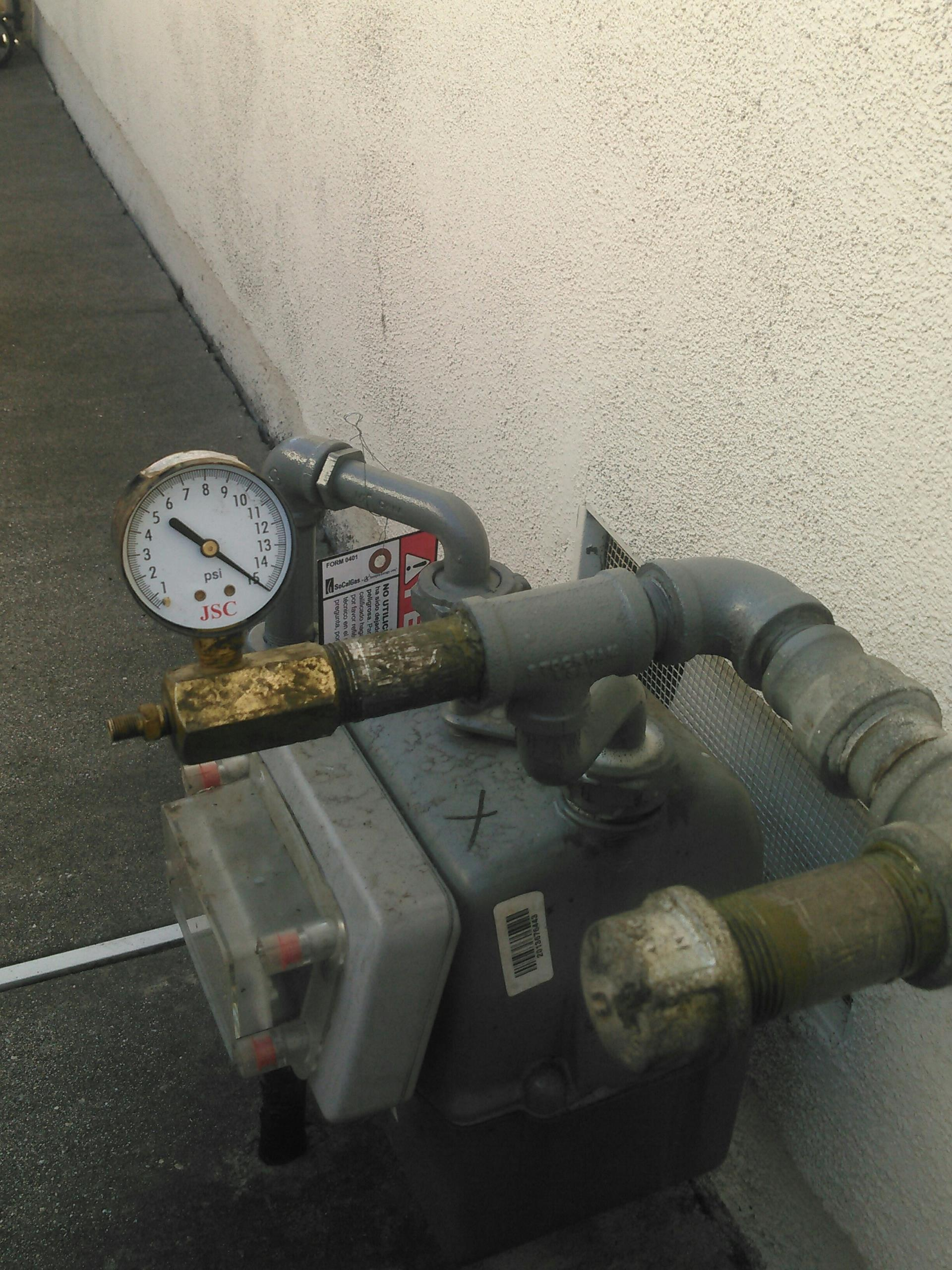 Rosemead, CA - Gas leak test