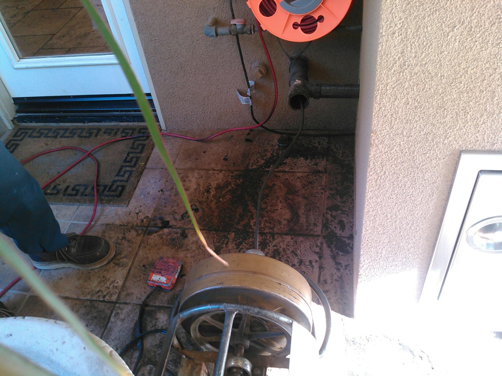 Corona, CA - Cleared kitchen sink stoppage.