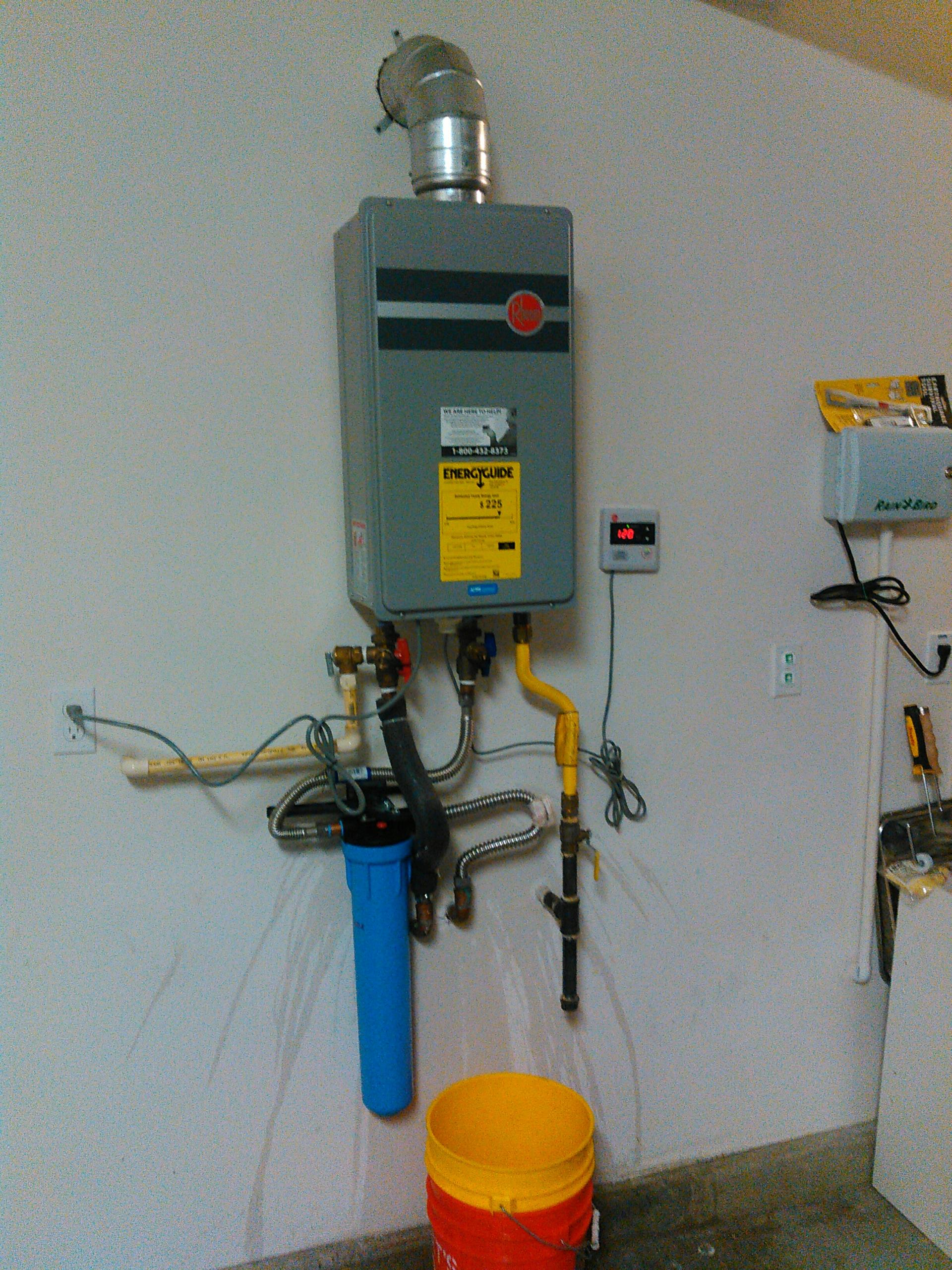 Azusa, CA - Repaired tankless water heater and installed water sediment filtration system
