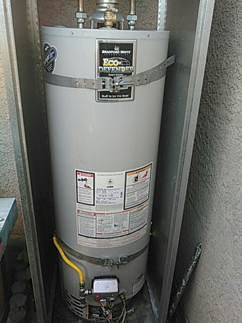 Water heater install 10 your warranty