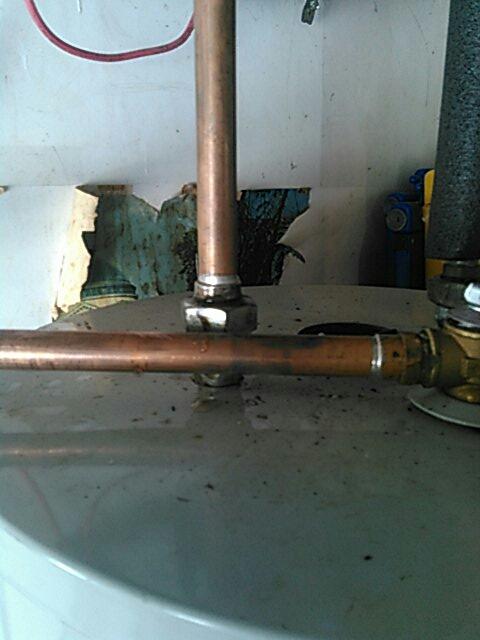 Glendale, CA - Water heater leak on dielectric union