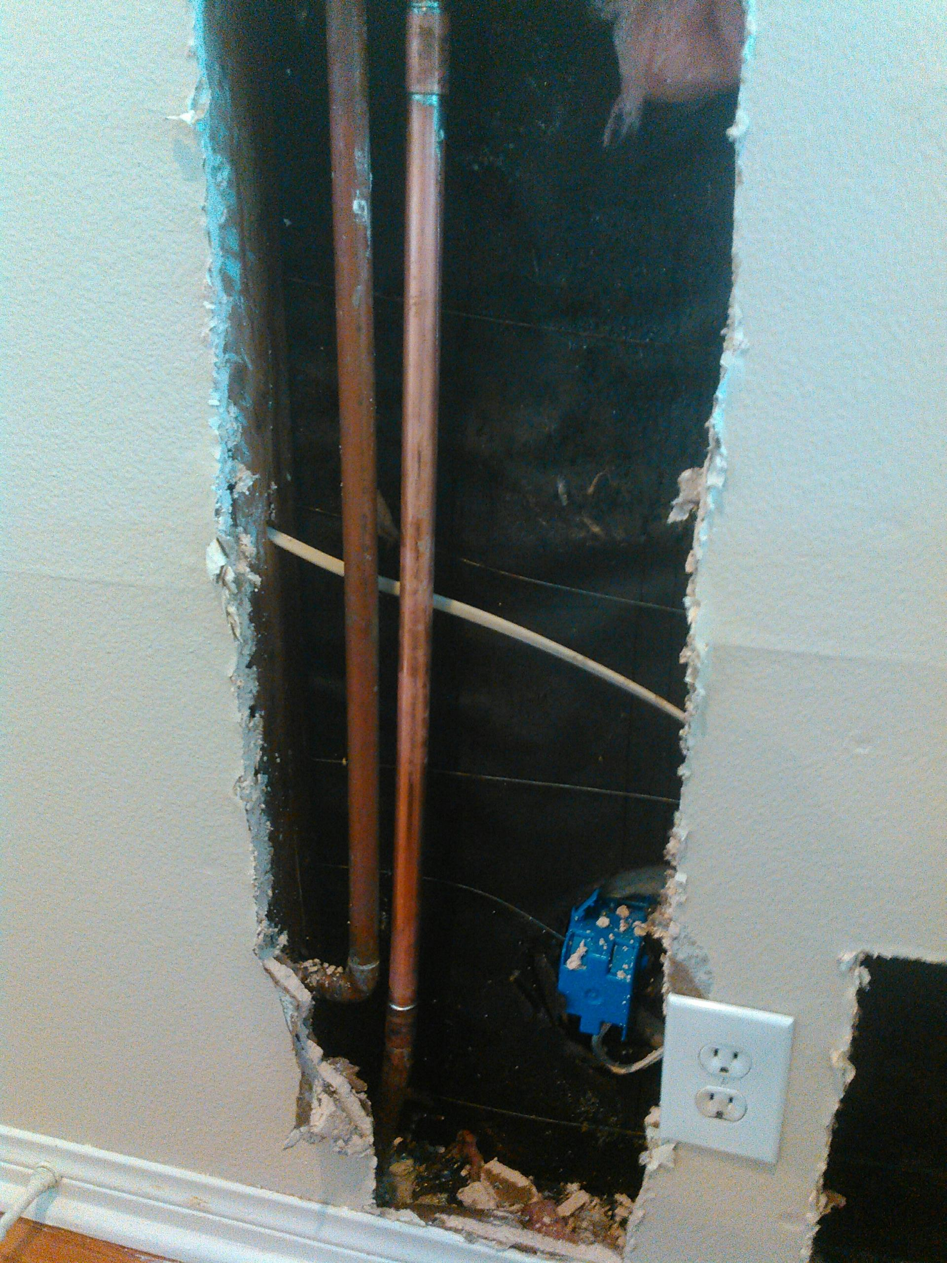 Rowland Heights, CA - Repaired water leak inside the wall