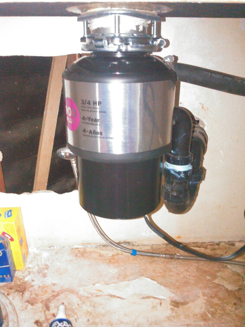Burbank, CA - Installed a customer supplied garbage disposal