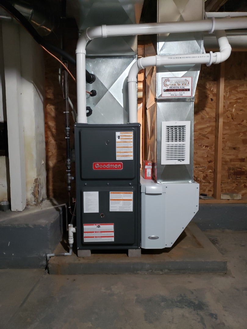 Watertown, WI - New Goodman furnace and ac install