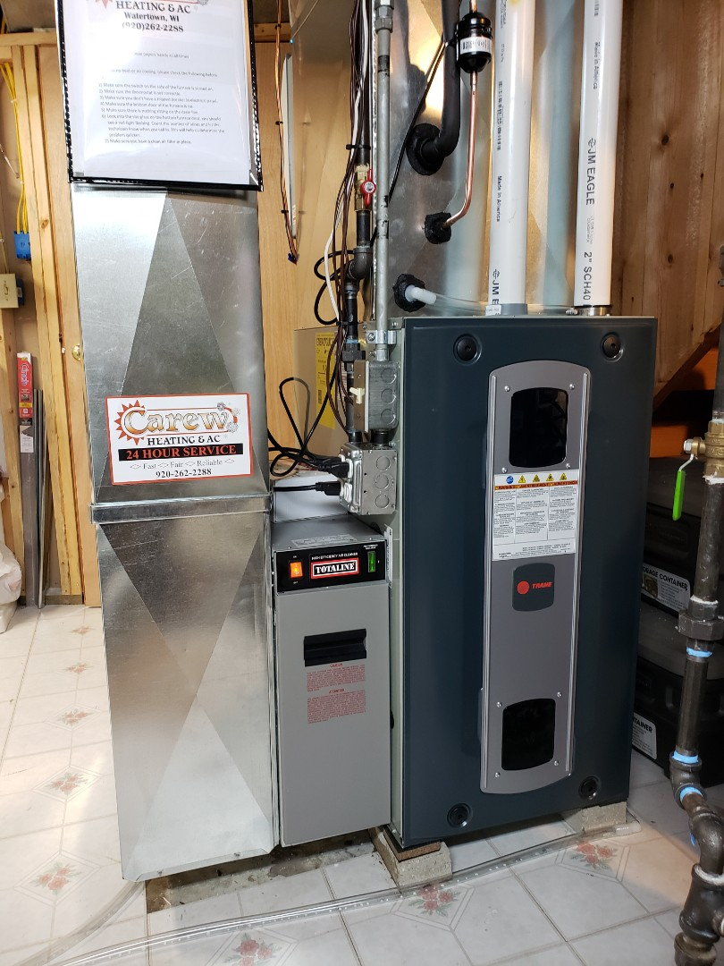 Watertown, WI - New Trane furnace and ac install