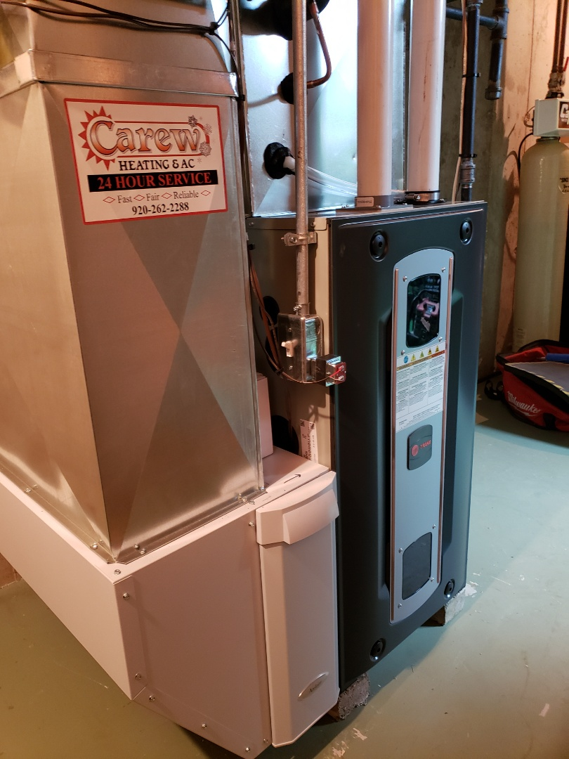 Watertown, WI - New Trane furnace and ac install.  Aprilaire humidifier and Apco uv light install.