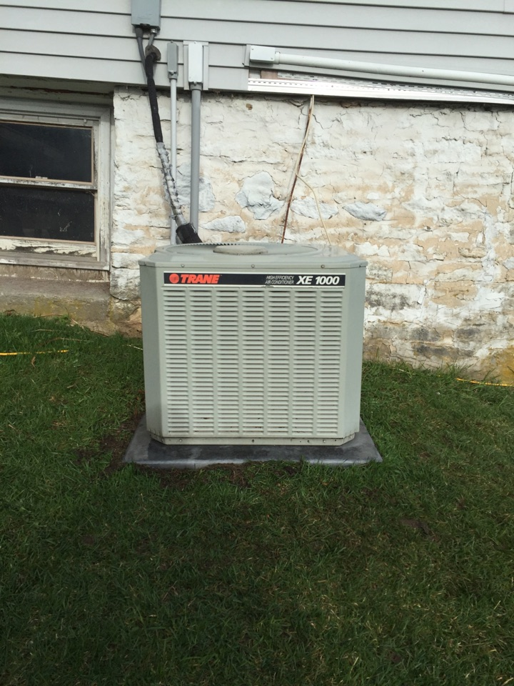 Waterloo, WI - Performed check and clean on Trane AC system