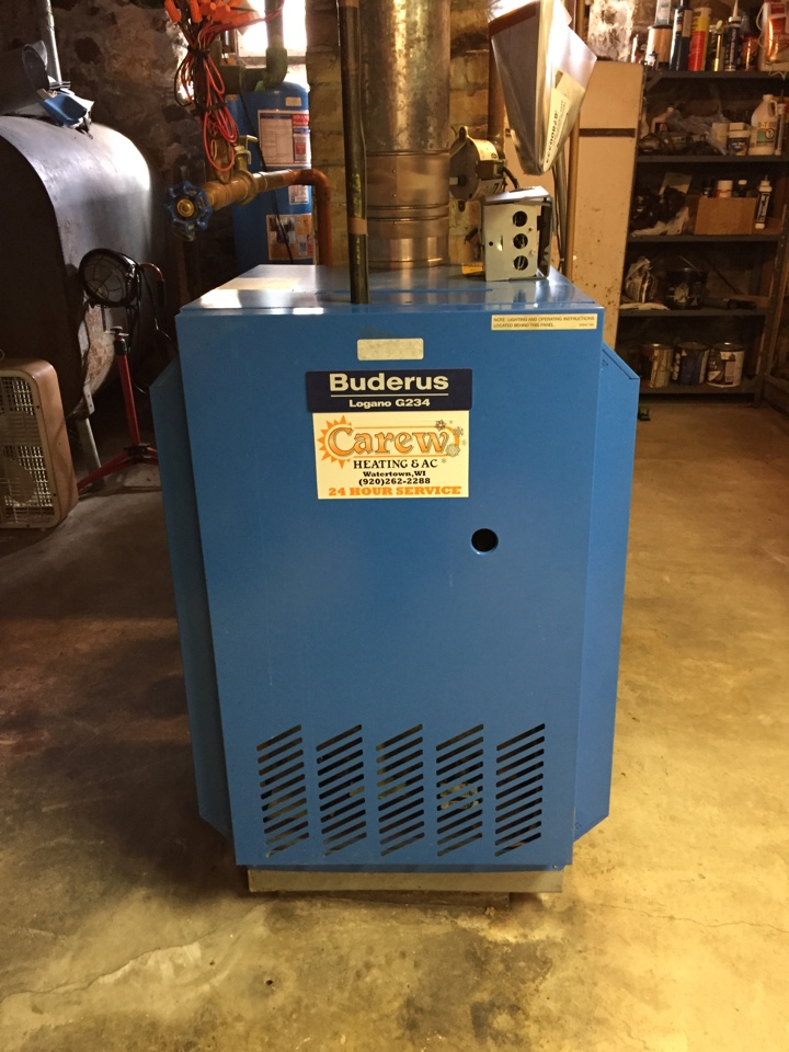 Helenville, WI - Performed tune up of Buderus boiler.