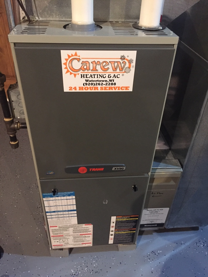 Fort Atkinson, WI - Performed furnace tune-up on a Trane