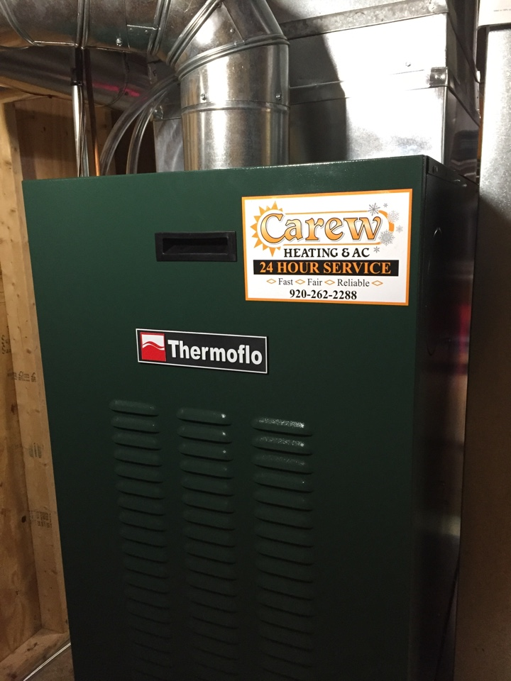 Helenville, WI - Performed install of new Thermoflo oil burning furnace.