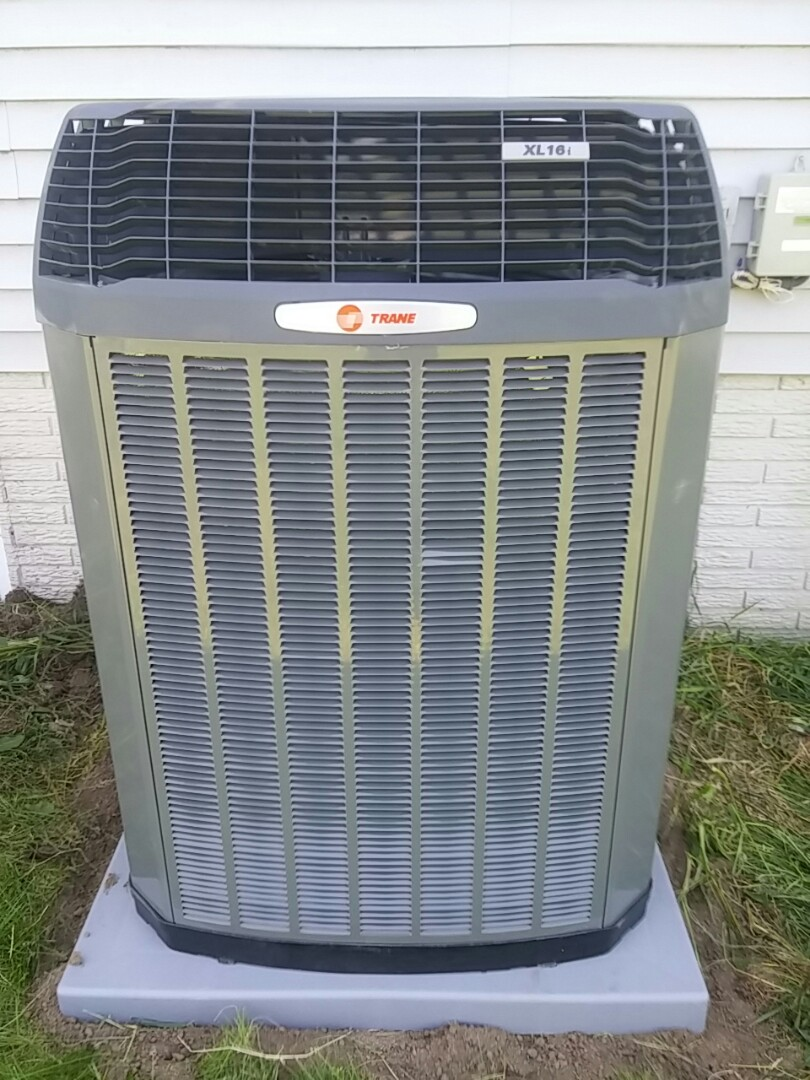 Lowell, WI - Installed new XL 2 stage Trane AC