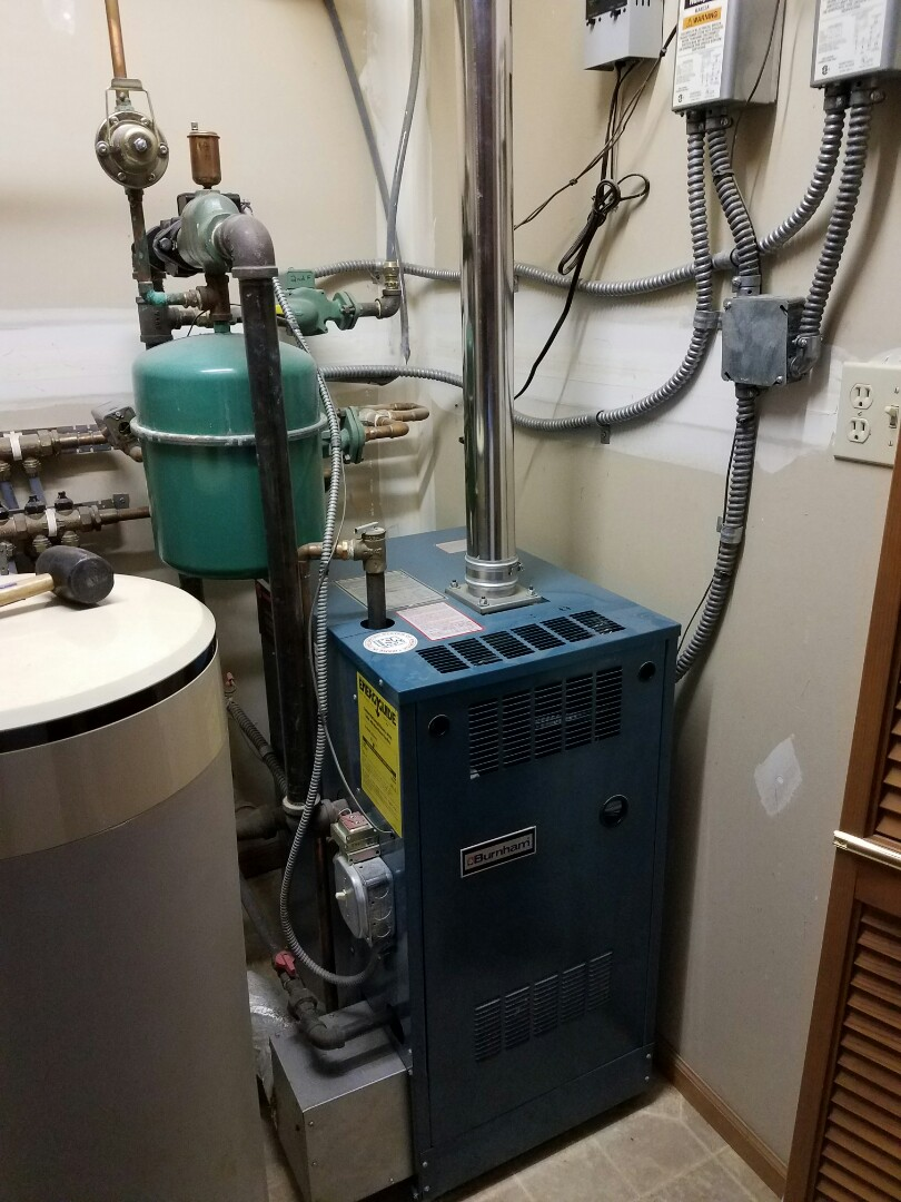 Beaver Dam, WI - Clean and check on a Burnham boiler