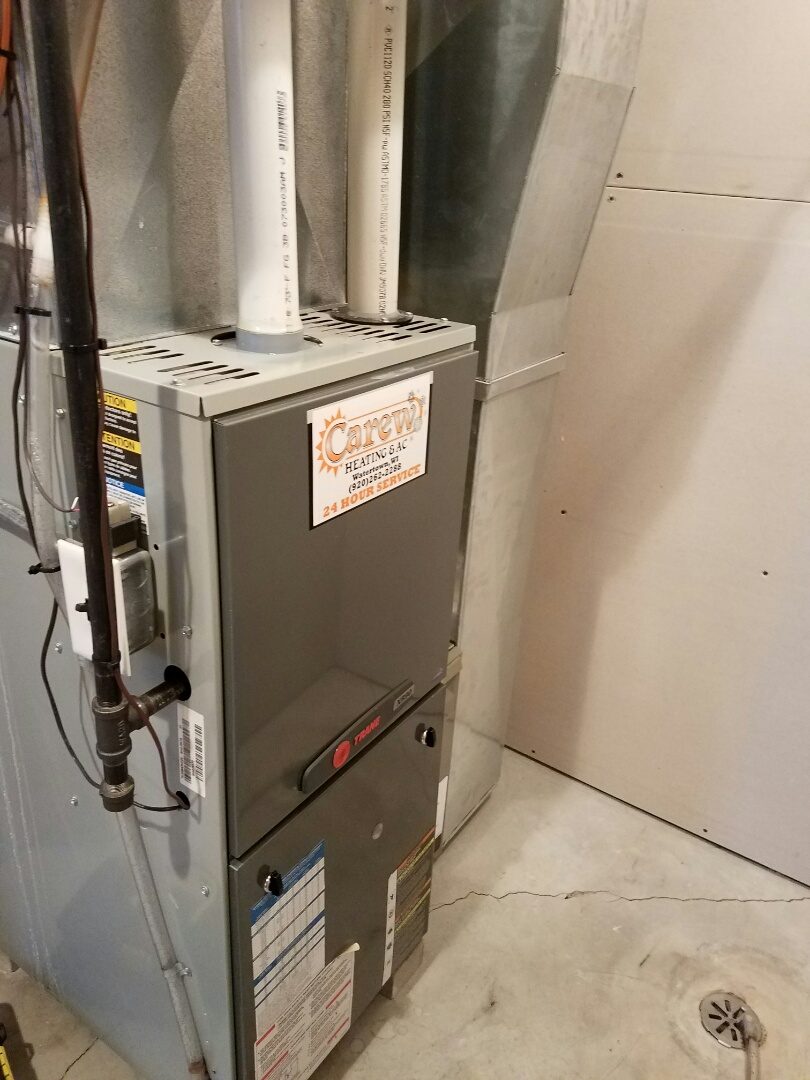 Johnson Creek, WI - Clean and check on a Trane furnace