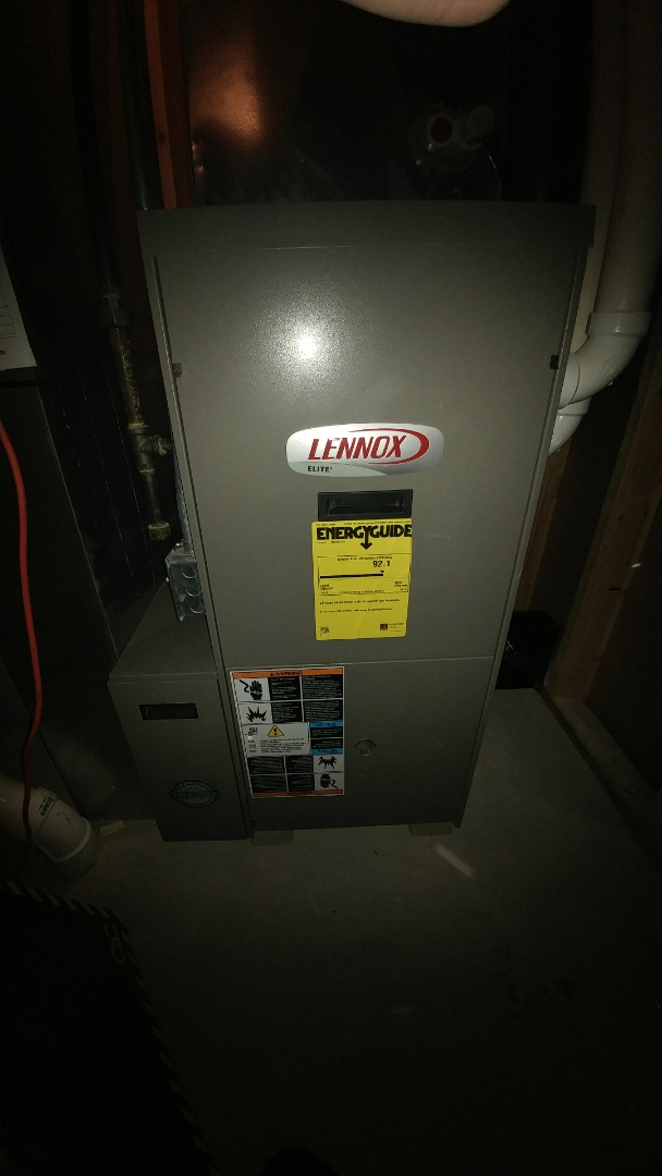 Ixonia, WI - Lennox furnace clean and check