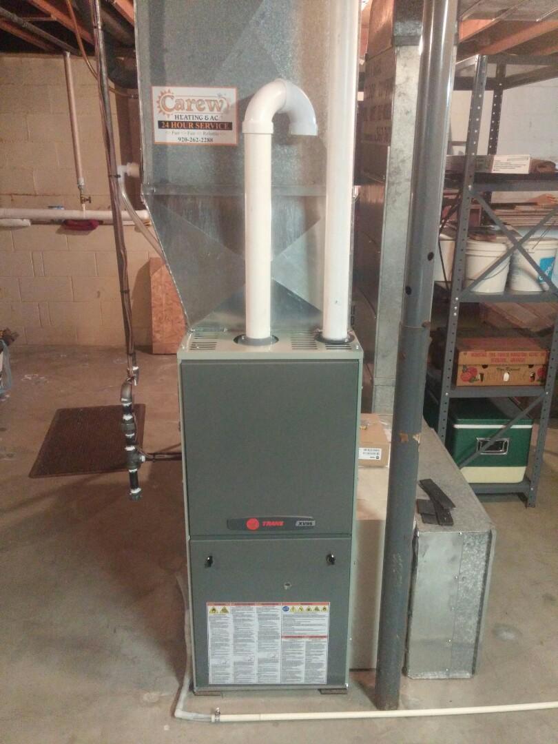 Oconomowoc, WI - Installed a new XV 95 Trane furnace with an 824 Wi-Fi t-stat
