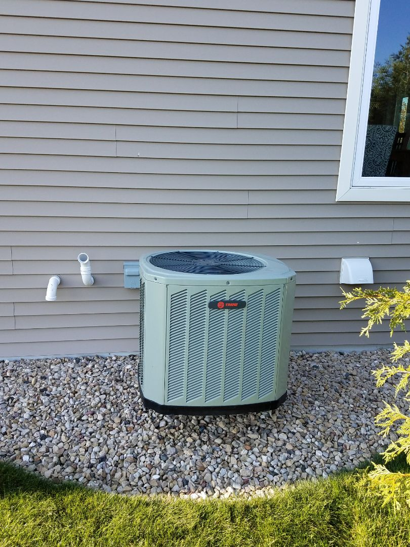 Cottage Grove, WI - AC maintenance.  Tune up on a Trane air conditioner