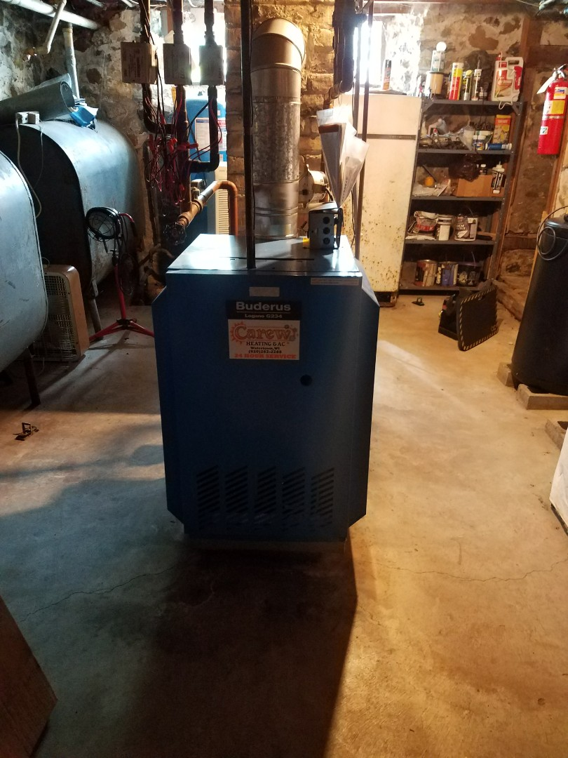Helenville, WI - Boiler maintenance.  Tune up on a buderus boiler