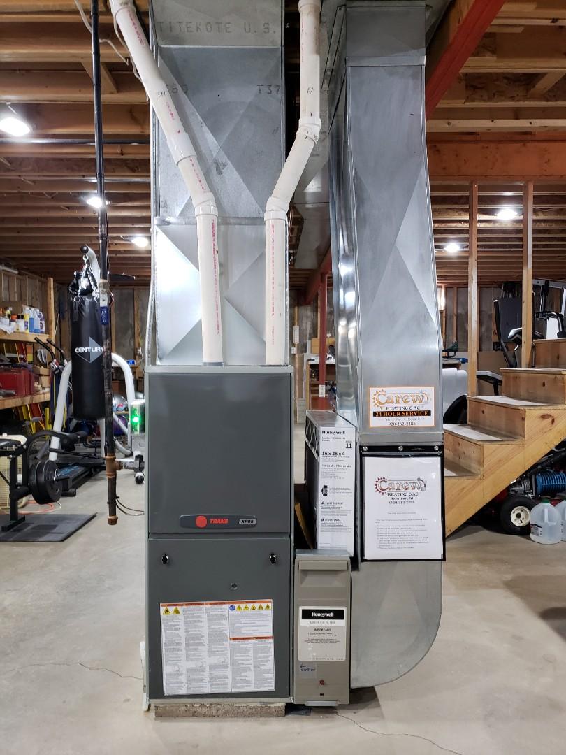 Juneau, WI - New Trane furnace install