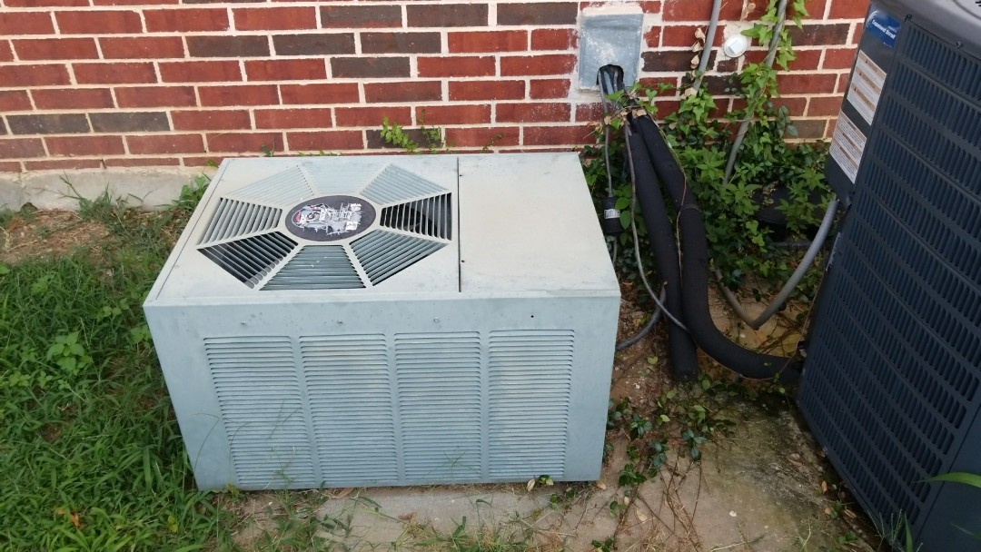 Frisco, TX - Answered a call regarding an upstairs a.c. not properly cooling.  Upon arrival and diagnostic of said machine determined there was a refrigerant leak.  I then provided options to tenants and homeowner regarding the unit.  Customer decided to install a New Lennox 2.5 ton system in. Which we were able to accommodate them in there time of need.  We found a way to schedule said install on Sat July 8th at no additional cost to them.  For the evening I brought a potable had unit to make comfortable.??
