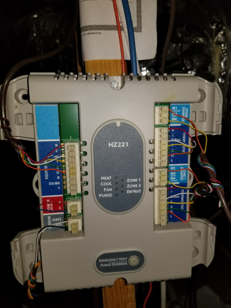 Allen, TX - Came out to diagnose a No cool on Sunday realized whole neighborhood was out then coworker came out to the neighbors house same problem.  He bypassed had board and order a newHoney Well hz221.  I received board on Tuesday I rushed over to install new board is running fine by zone 2 damper is malfunctioning. Finding every option and solution for customer.