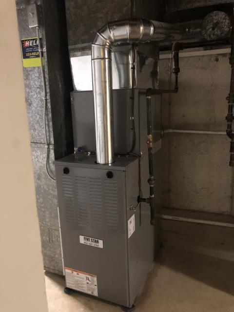 "Fairfield, OH - I installed a new ) Five Star 80% 70,000 BTU Gas Furnace 3T 14"", Five Star 13 SEER 2 Ton Air Conditioner,"