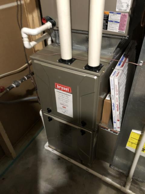 Montgomery, OH - I am Performing our Five Star Tune-Up & Safety Check on a  2013 Bryant Gas Furnace. All readings were within manufacturer's specifications, unit operating properly at this time.