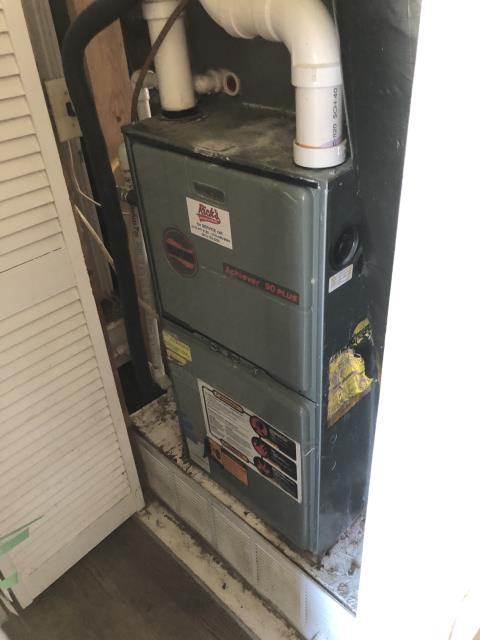 Morrow, OH - Furnace has extreme water damage. Client opted replace