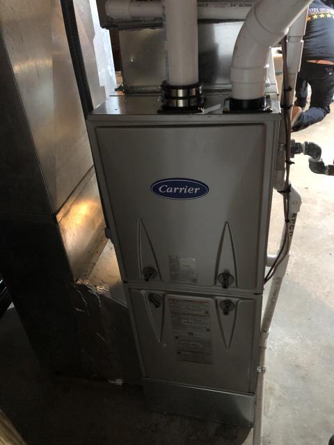 Morrow, OH - I installed a Carrier 96% 60,000 BTU Gas Furnace.