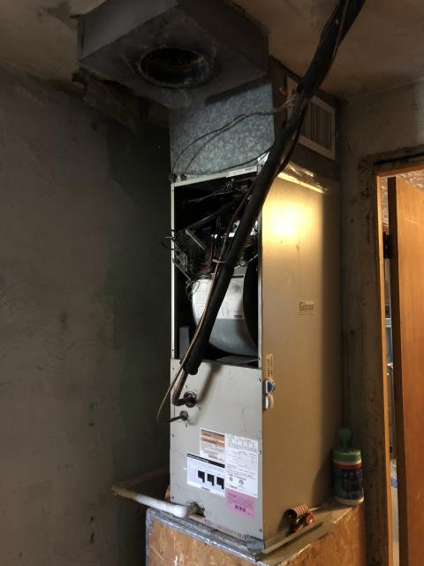 Loveland, OH - The clients unit caught on fire. Will need a heat kit, circuit board and a transformer. Client will also need to have new electric and breakers added at box. Client thinking about replacing unit.