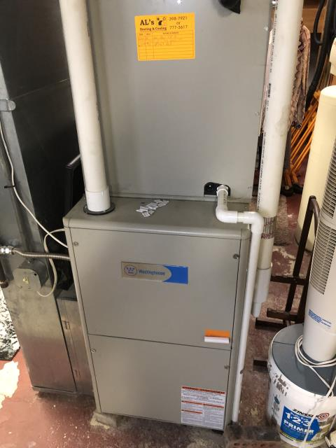 Montgomery, OH - During a tune up on a 2013 Westinghouse furnace, I pulled and cleaned the flame sensor. I found that the blower capacitor is reading out of specifications so I replaced. Everything is operating within manufacturers specifications at time of departure.