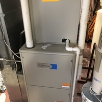 Loveland, OH - Dispatched to customer's home to diagnose no heat issue with furnace.  Customer stated system stopped heating overnight System is a dual fuel heat-pump & gas furnace. Upon arrival I turned unit on at thermostat - Only blower would come on. Installed new thermostat and wired it for heat using gas furnace only. Issue resolved.