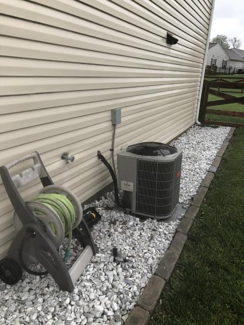 Maineville, OH - I performed a diagnostic on a Bryant air conditioner.  I found that it was completely empty of refrigerant and had several leaks.  I discussed replacement options with the customer.