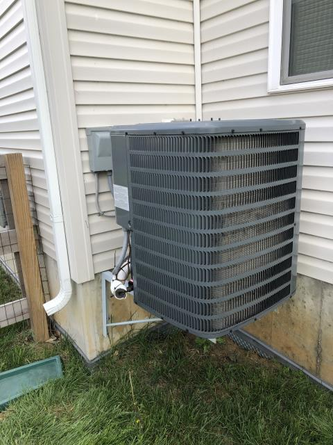 Morrow, OH - I performed a diagnostic on a Goodman air conditioner.  I found that the  inducer motor needed replaced and that the Schrader core was leaking on the liquid line.  I replaced the core and added necessary refrigerant.  Advised the customer that if the system is low again on refrigerant then there's a leak in the system.