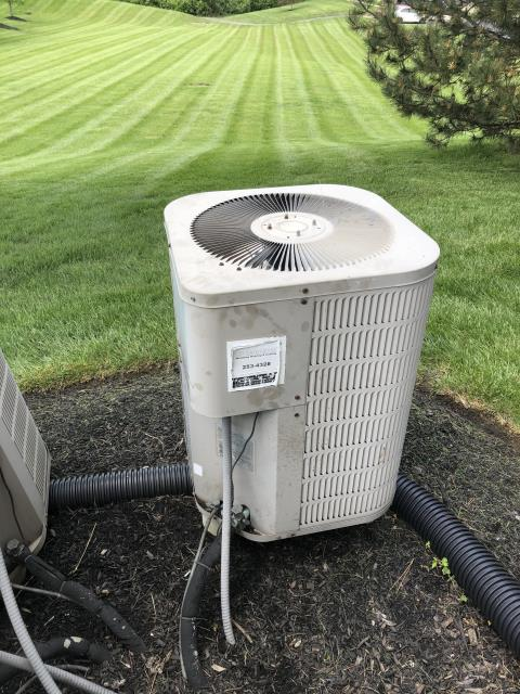 Monroe, OH - I performed a tune up and safety check on a Goodman air conditioner. I found that the multi-tap compressor-motor/high voltage surge capacitor was bad and needed replaced. I quoted the repair cost to the customer and they are contacting their warranty company.