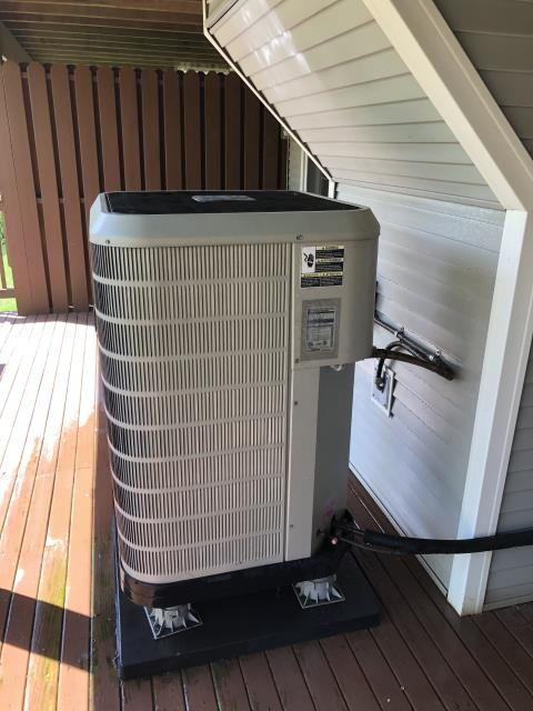 Montgomery, OH - I performed a tune up and safety check on a Westinghouse heat pump.  I found that the unit was having intermittent TXV issues.  I was able to get the pressures stabilized.  I also found that the compressor-motor surge capacitor needed replaced so I replaced it.