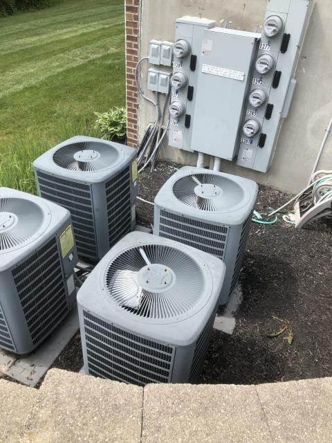 Lebanon, OH - I performed a diagnostic on a Goodman air conditioner.  I found that the OEM Condenser Fan Motor (Single Speed) and Capacitor had failed so I replaced it.  I also found that the fan motor had failed and the defrost board would need replaced as well.
