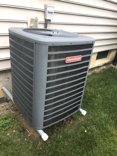 Maineville, OH - I performed a diagnostic on a Goodman air conditioner.  I found that the damper motor was bad so I disconnected it and forced it open temporarily.  The customer will let me know how to proceed.