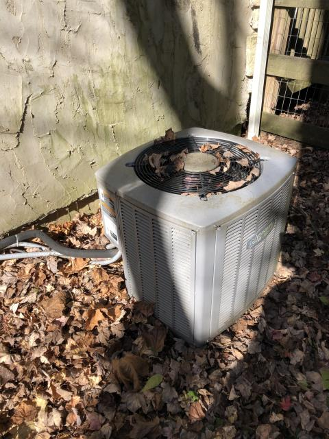 Morrow, OH - I performed a diagnostic on an Armstrong air conditioner. I determined that AC needed 410 and also had a  leaking Schrader core. I added 1lb of 410 and replaced Schrader core. Also replaced filter and dual cap.