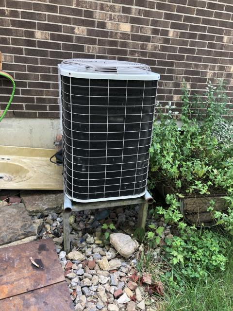 Hamilton, OH - I completed a diagnostic on a Bryant air conditioning unit. I poured water into drain and determined there was no leak and the system was draining okay. Also found the evaporator coil is rusted and contractor is pitted. I gave the customer options and they decided to get the unit replaced.