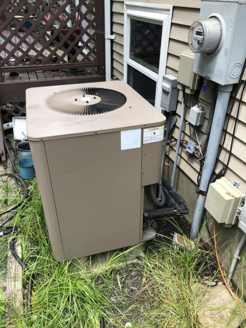 Mason, OH - I completed a diagnostic on a Janitrol AC unit. I found the blower fuse on constant and the compressor was not shorted to the ground. I unplugged compressor and reset breaker and fan cycled on. The compressor is shorted internally. The customer decided to replace the unit.