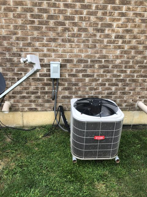 Mason, OH - I completed a diagnostic on a Bryant air conditioning unit. I found the switch on the system to be off. I switched it on and checked the system. The system has no further issues and is operating properly  at this time.