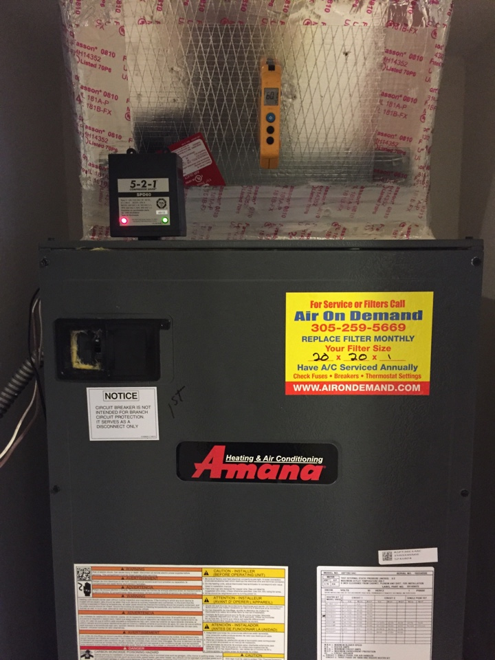 Kendall, FL - Installing surge protector on Amana system